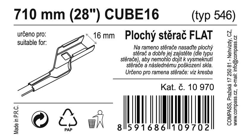 "Stěrač FLAT BULK (CUBE16) 28""/710mm"