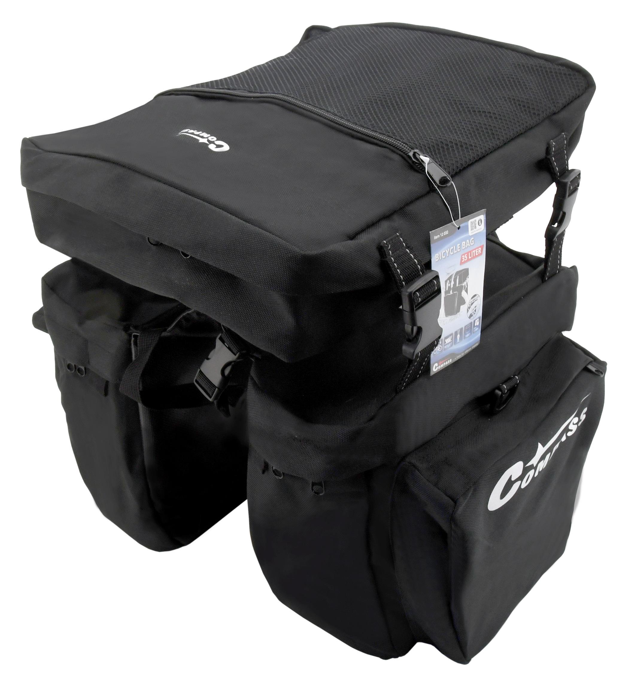 Cyklotaška na zadní nosič 3in1 COMPASS