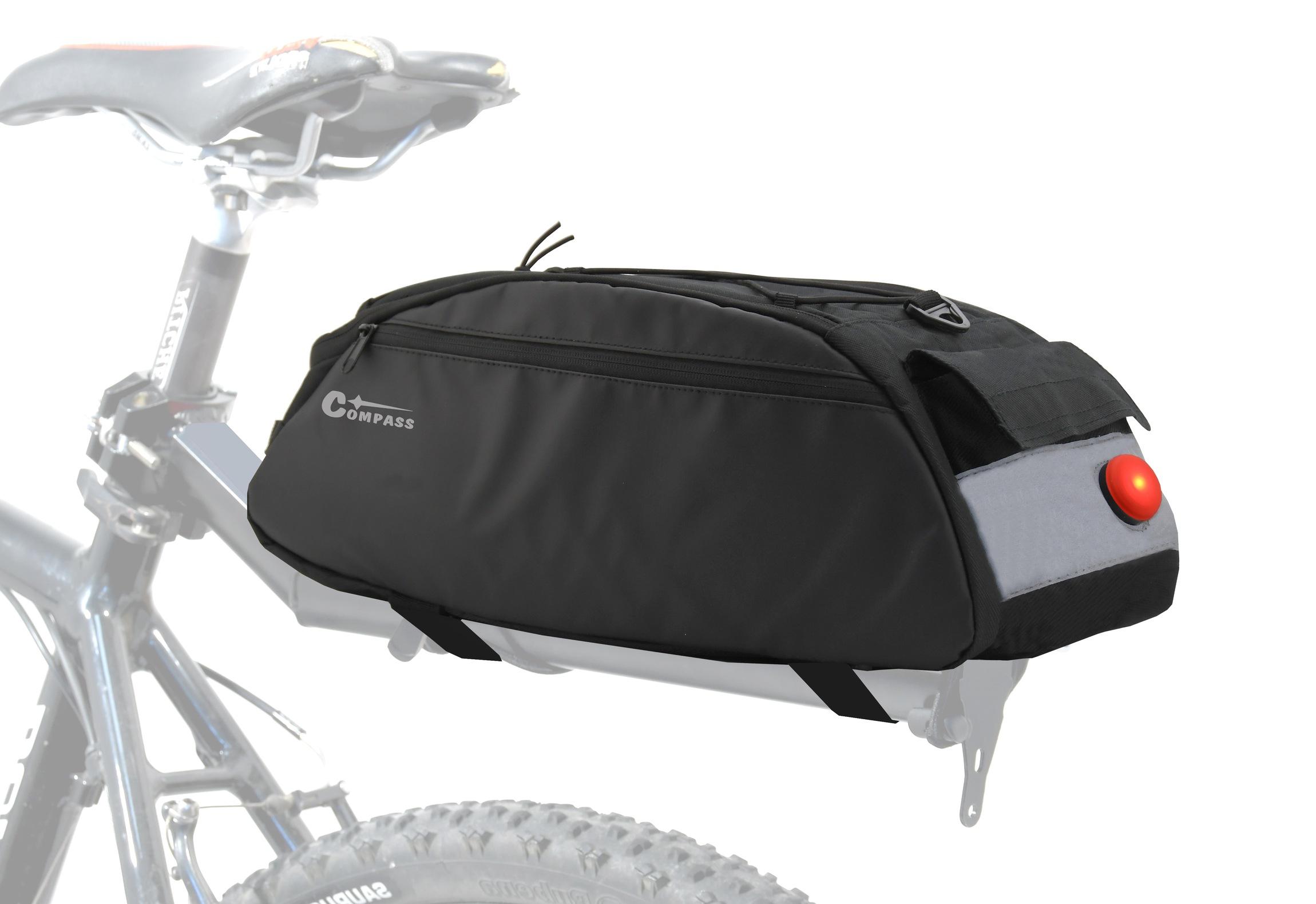 Cyklotaška na zadní nosič + zadní LED světlo