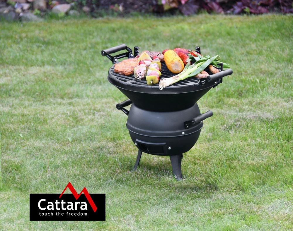 Cattara - Gril na dřevěné uhlí litinový BRINDISI 35cm