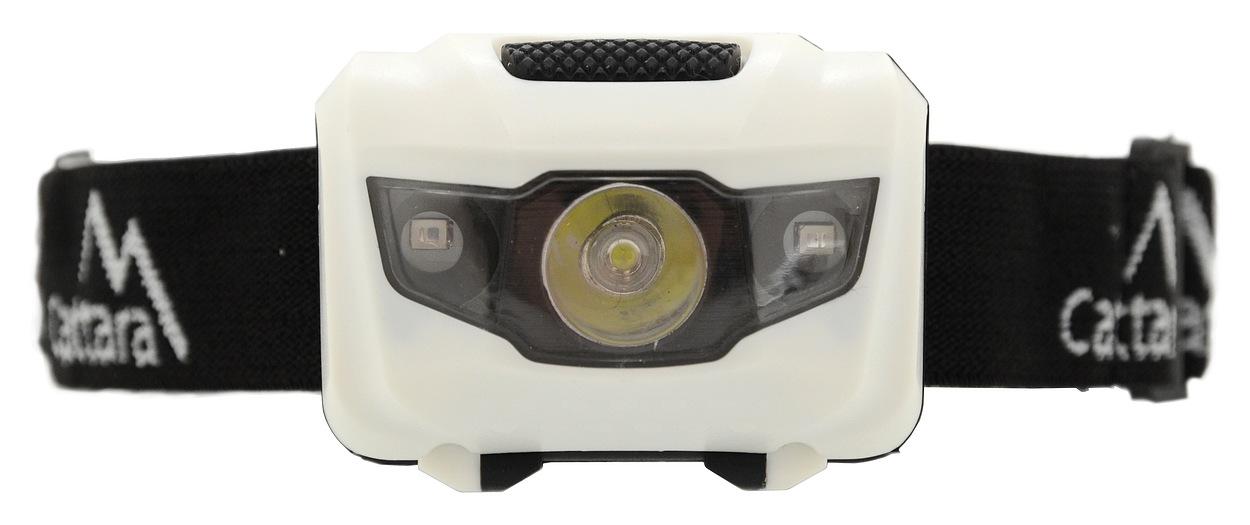 Čelovka LED 80lm černo-bílá