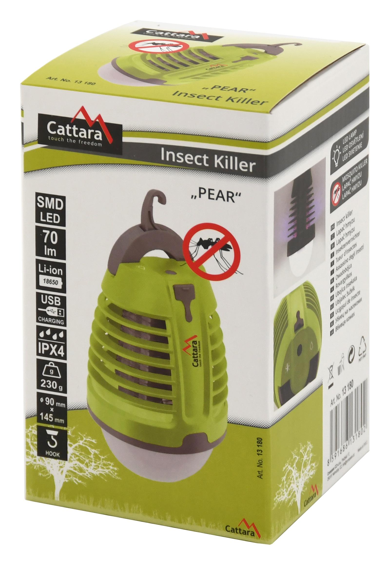 CATTARA Svítilna PEAR nabíjecí + lapač hmyzu