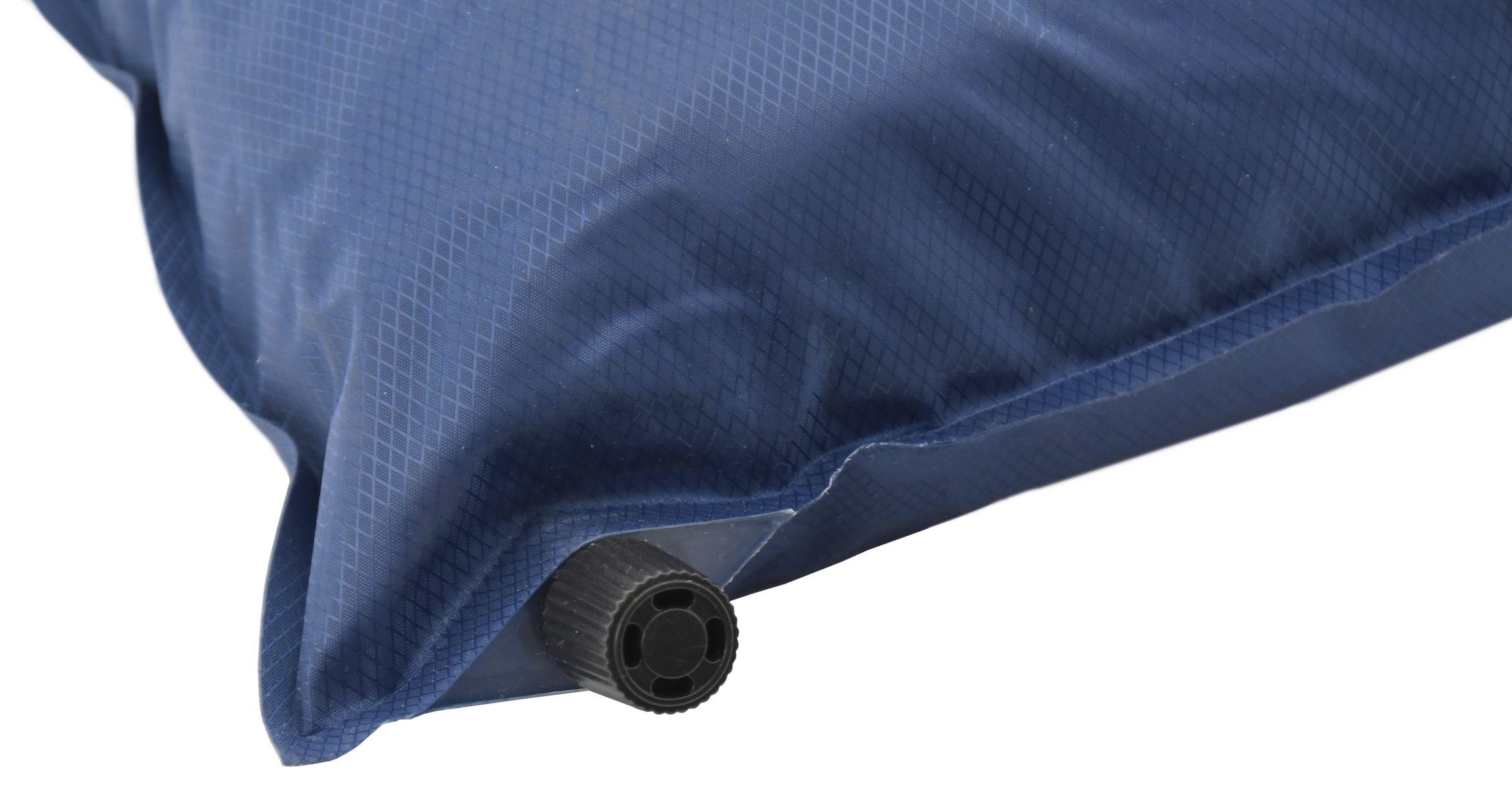 Polštář samonafukovací  TWIN 42x28x12cm modrý