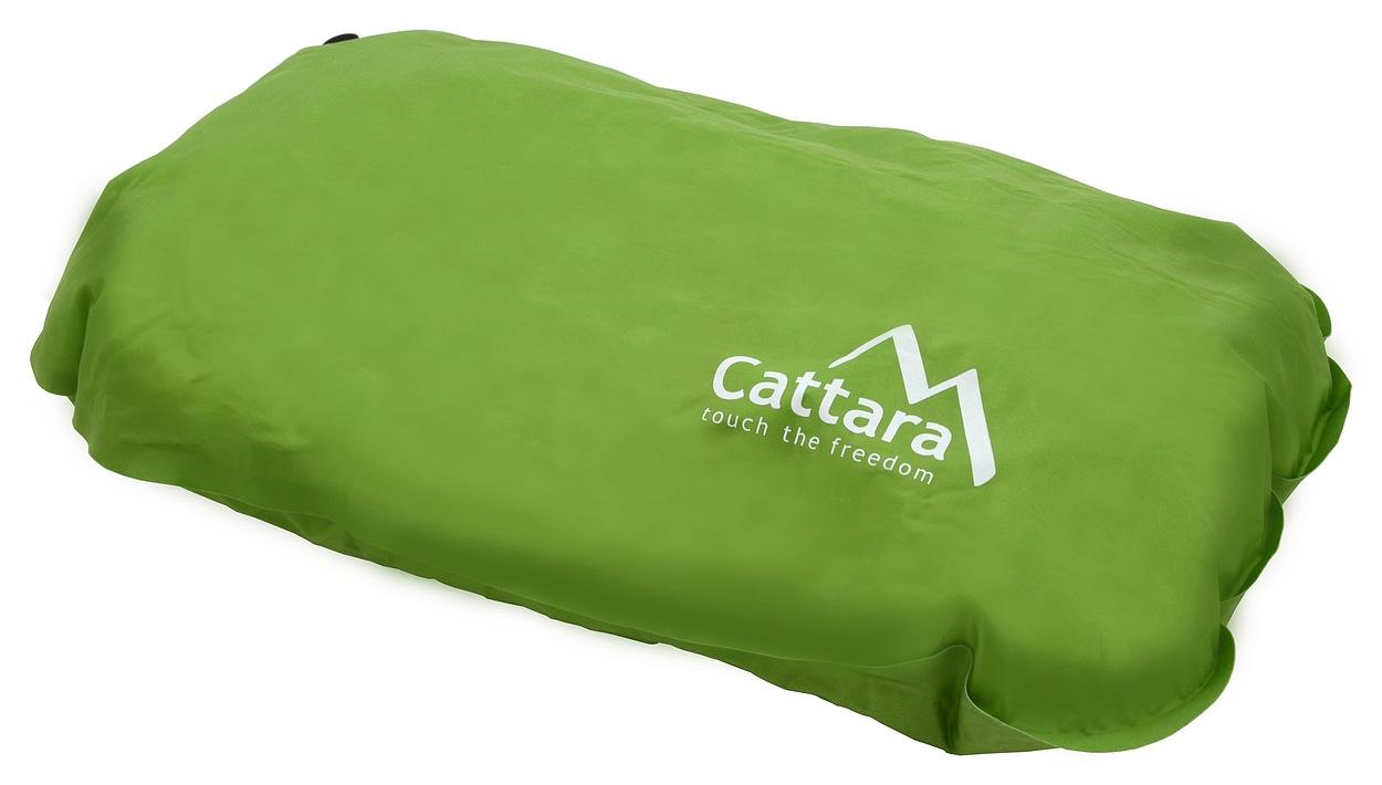 Cattara - Polštář samonafukovací 50x30x13cm zelený