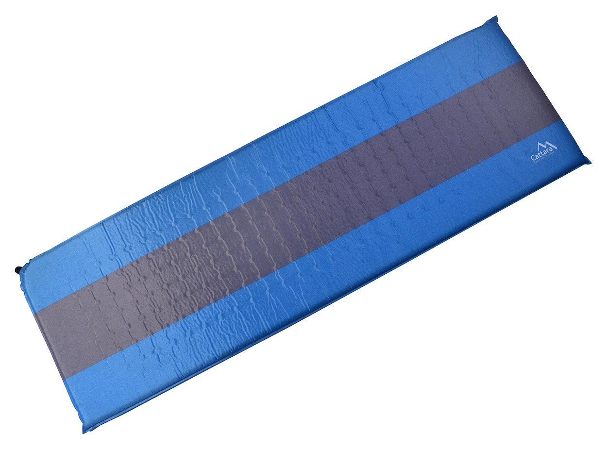 Cattara - Karimatka samonafukovací 195x60x5cm modro-šedá