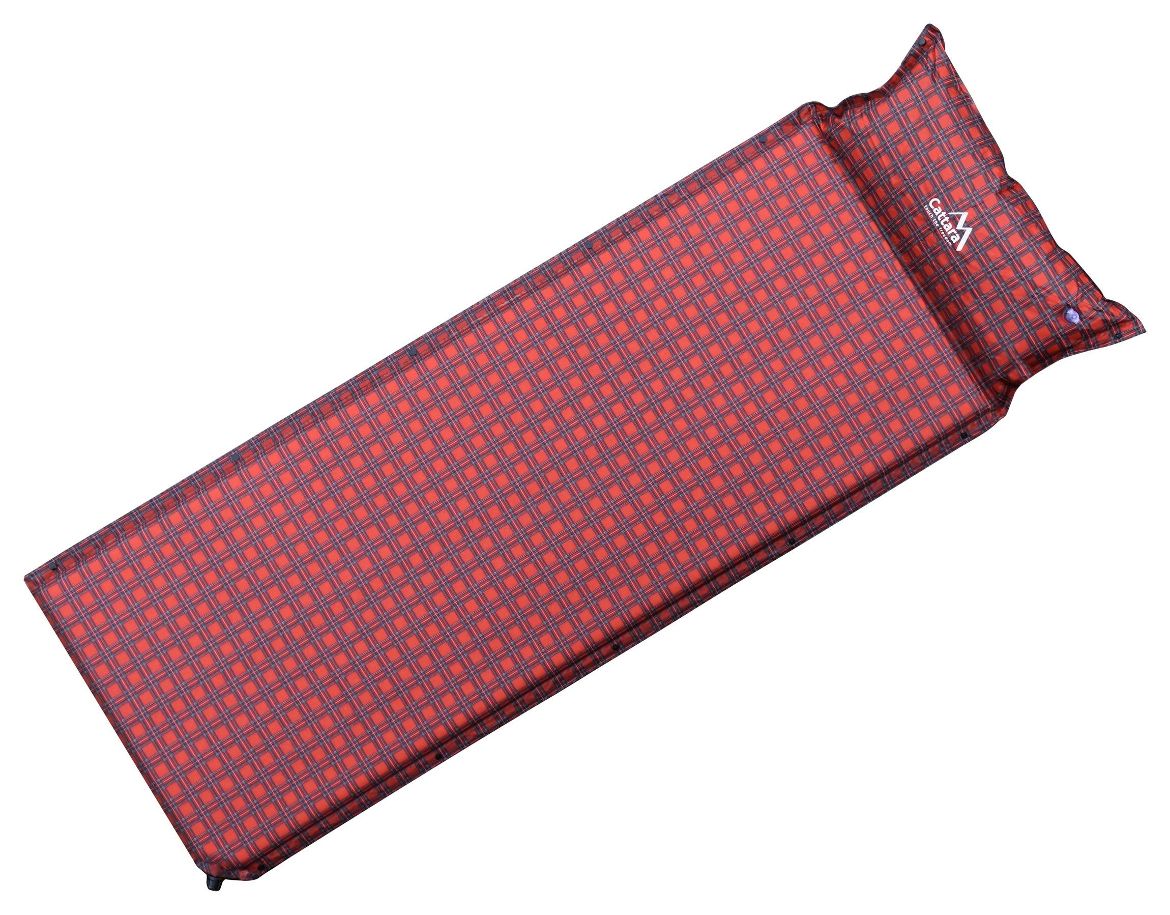 Cattara - Karimatka samonafukovací 190x60x3,8cms polštářem KILT