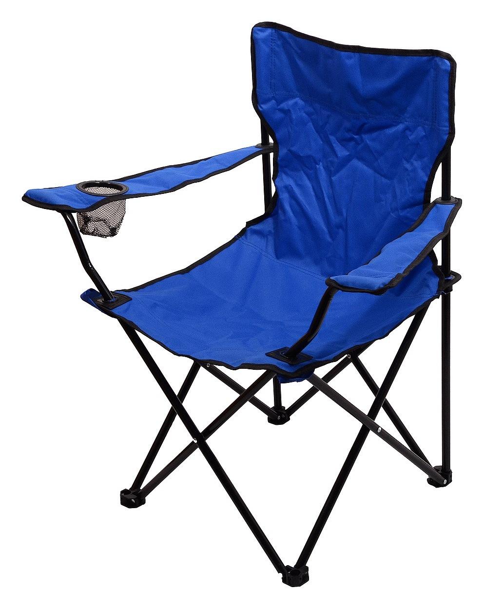 Cattara - Židle kempingová skládací BARI modrá