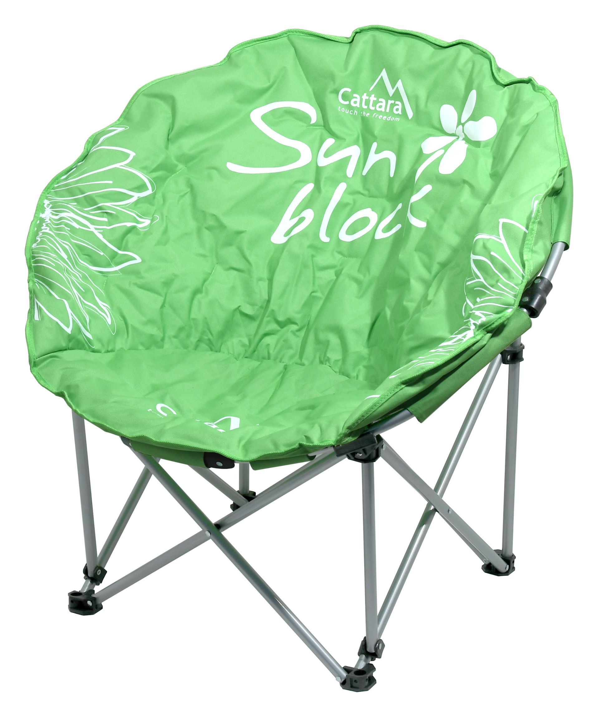 Cattara - Židle kempingová skládací FLOWERS zelená