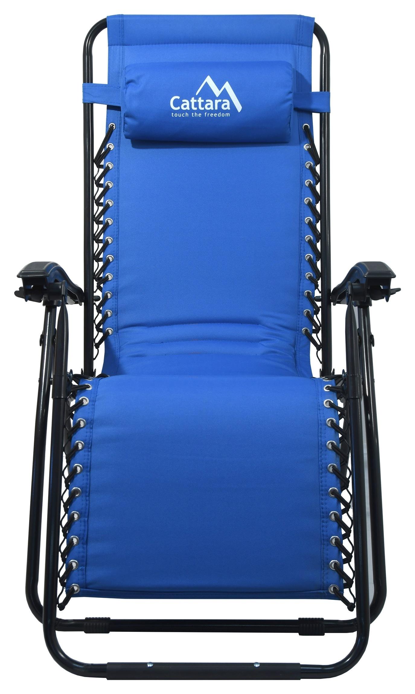 Křeslo kempingové polohovací LIVORNO modré