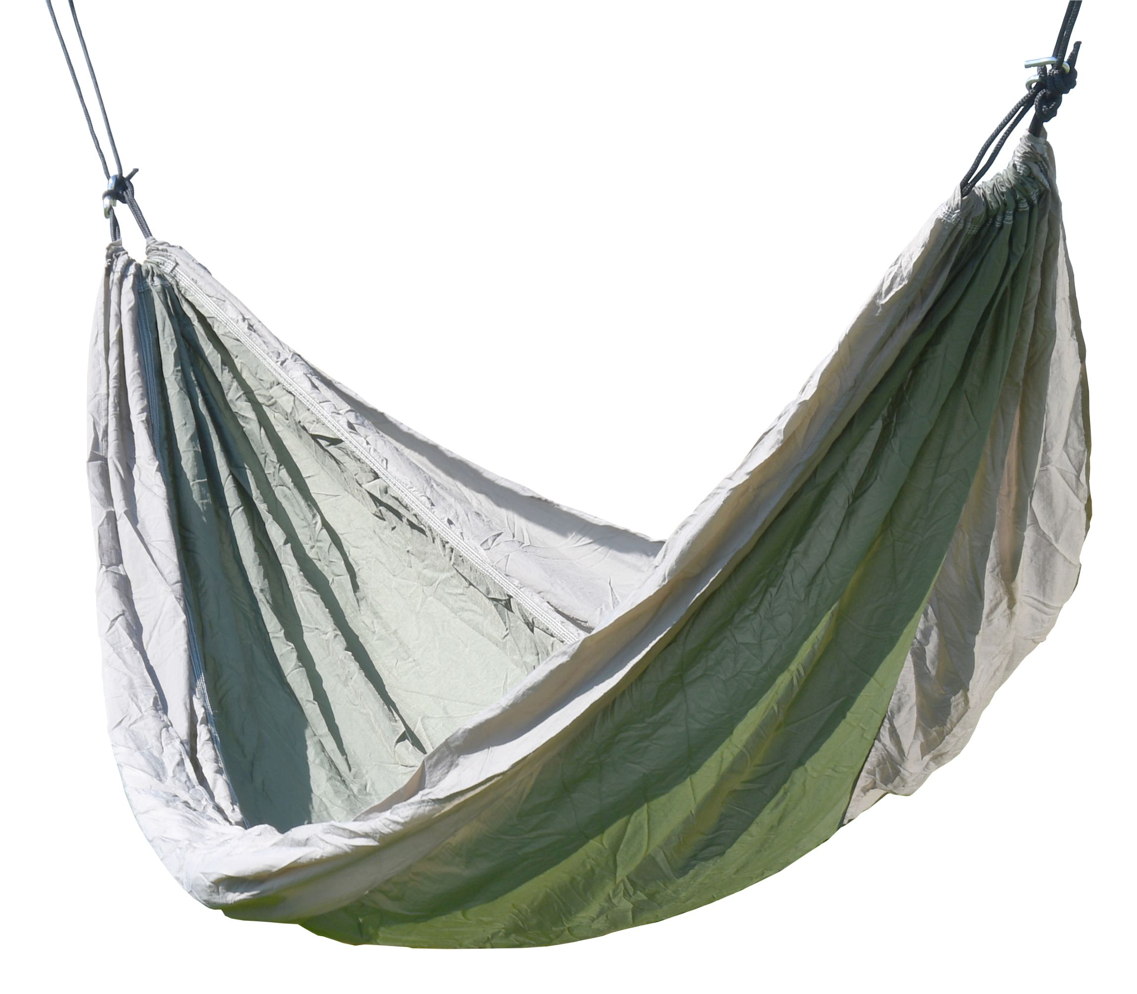 Cattara - Houpací síť NYLON 275x137cm zeleno-hnědá