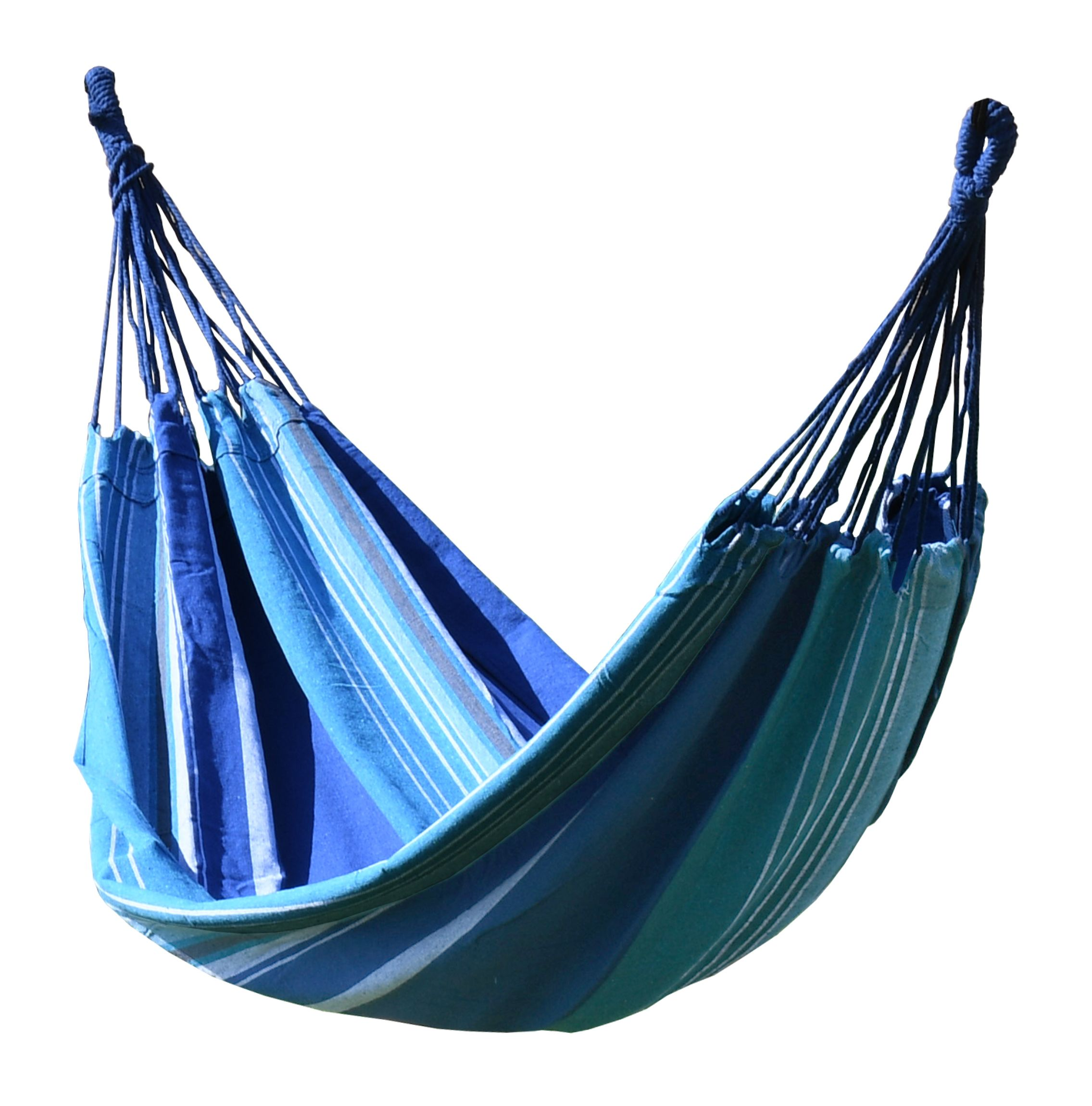 Cattara - Houpací síť TEXTIL 200x100cm modro-bílá