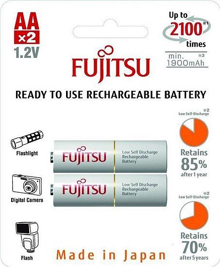 Baterie nabíjecí Fujitsu AA, 2100 (přednabité) blistr 2ks