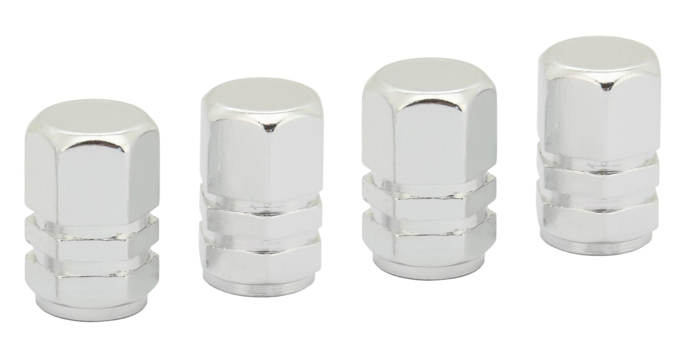 Ozdobné kryty ventilků stříbrné