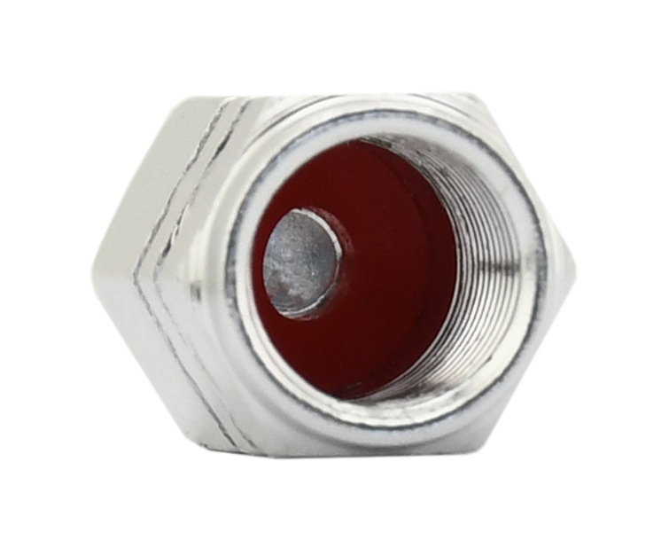 Ozdobné kryty ventilků stříbrné 4ks