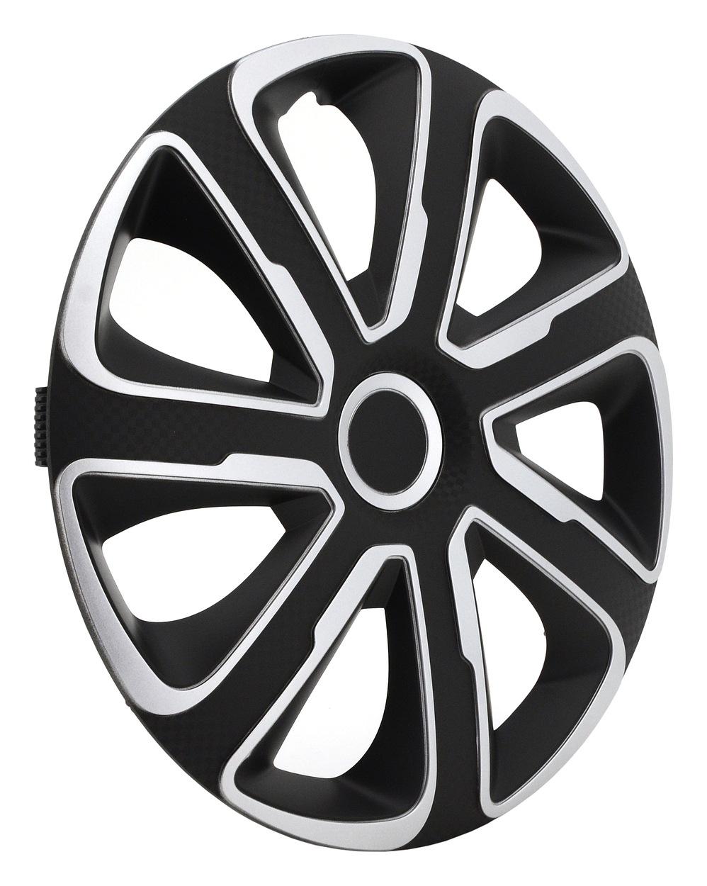 """Kryty kol 15"""" LIVORNO Carbon (sada) silver/black"""