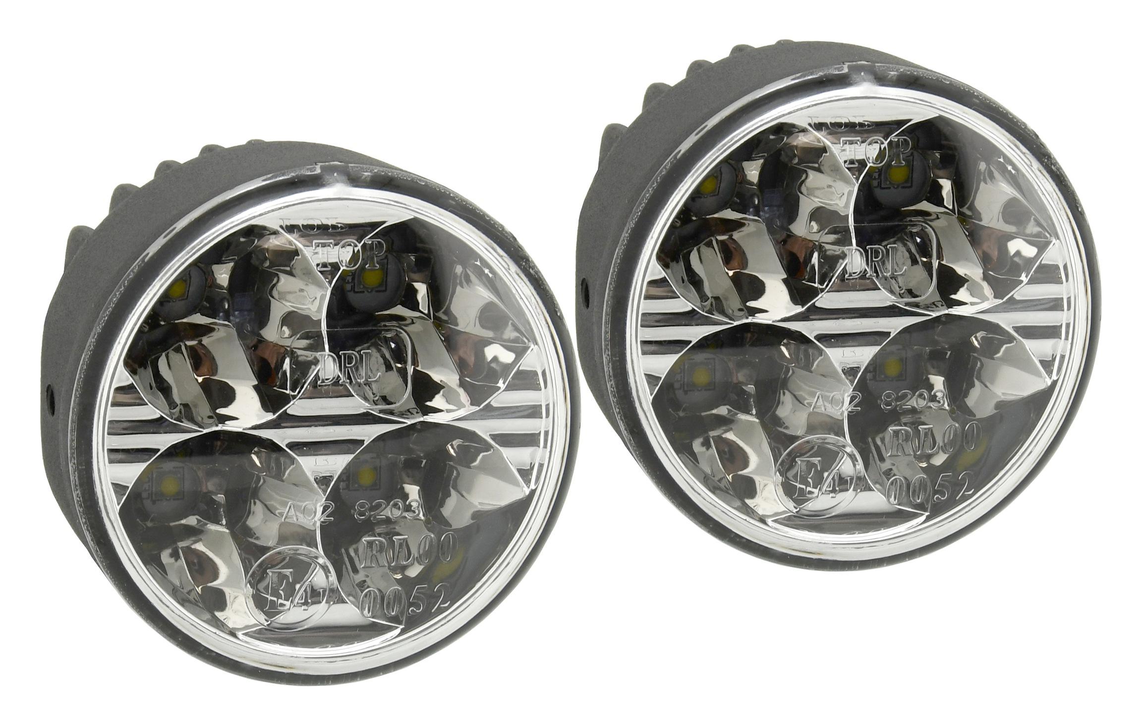Compass 33551 Světla denního svícení 4 HIGH POWER LED 12V/24V (kulatá 70 mm)