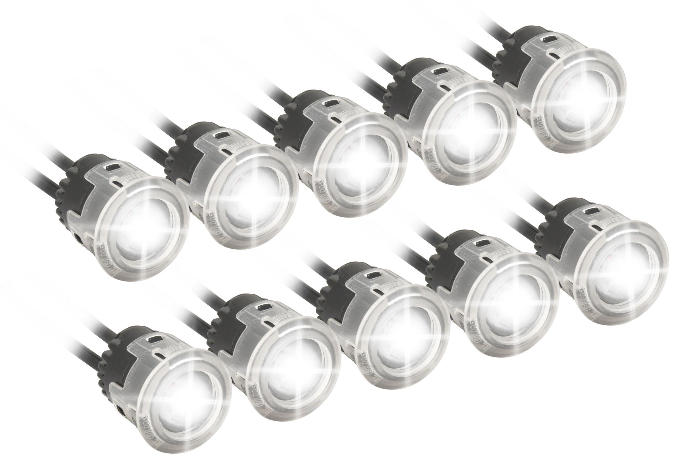 Compass 33552 Světla denního svícení 5+5 HIGH POWER LED 12V/24V