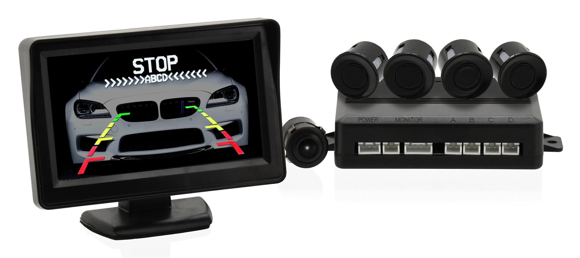 Compass 33604 Parkovací asistent 4 senzory + zadní kamera