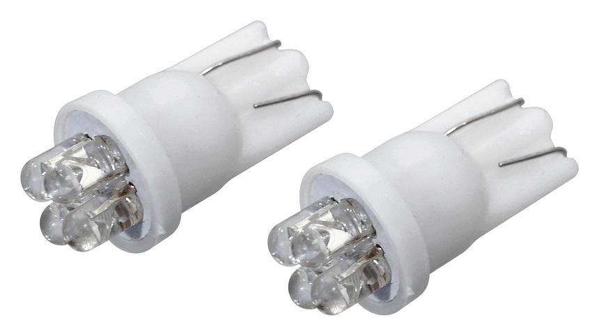 LED žárovka 4LED 12V  T10  bílá  2ks