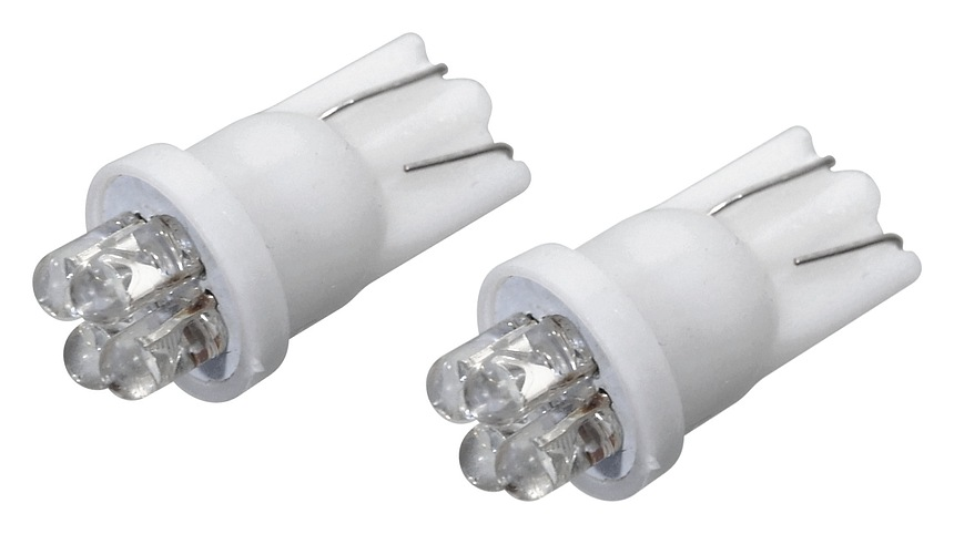 Žárovka 4LED 12V T10 bílá 2ks