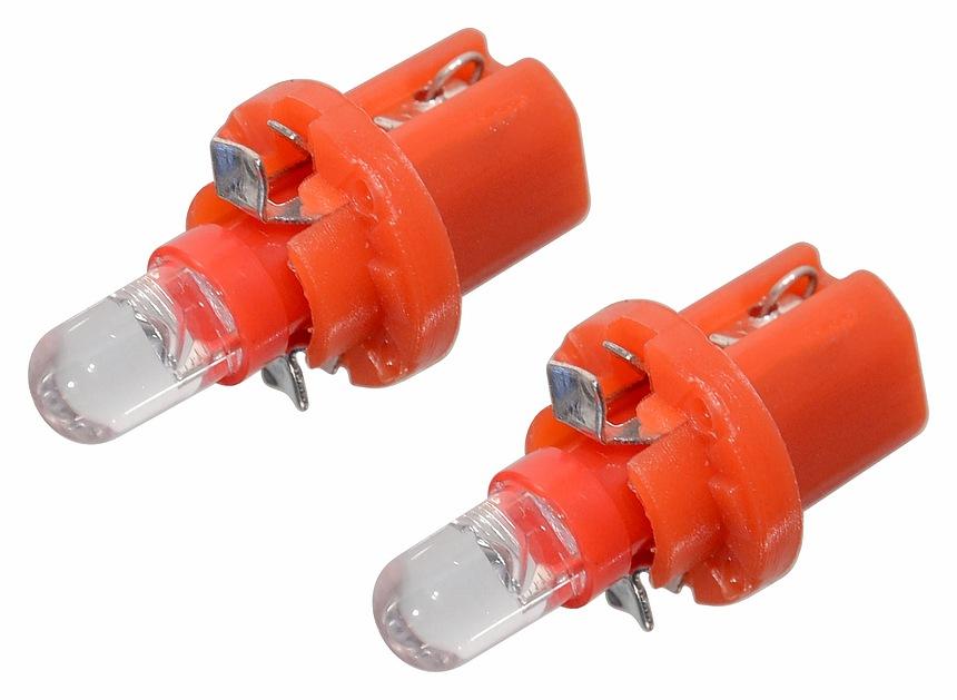 Žárovka 1LED 12V  B8,5d  červená 2ks