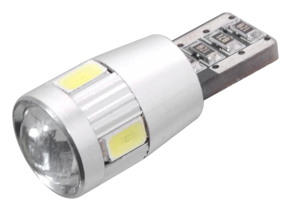 Žárovka 6 SMD LED 12V T10  bílá - BEZ CAN BUS