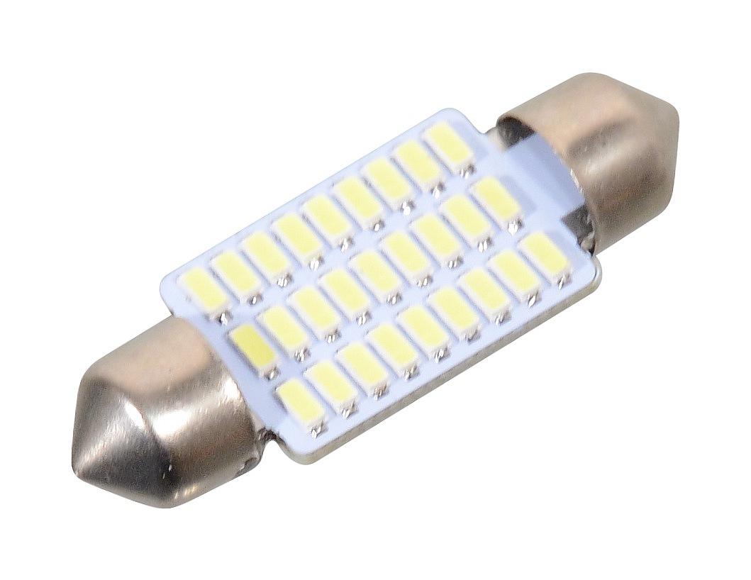 Žárovka 27 SMD LED 12V suf. SV8.5 38mm bílá