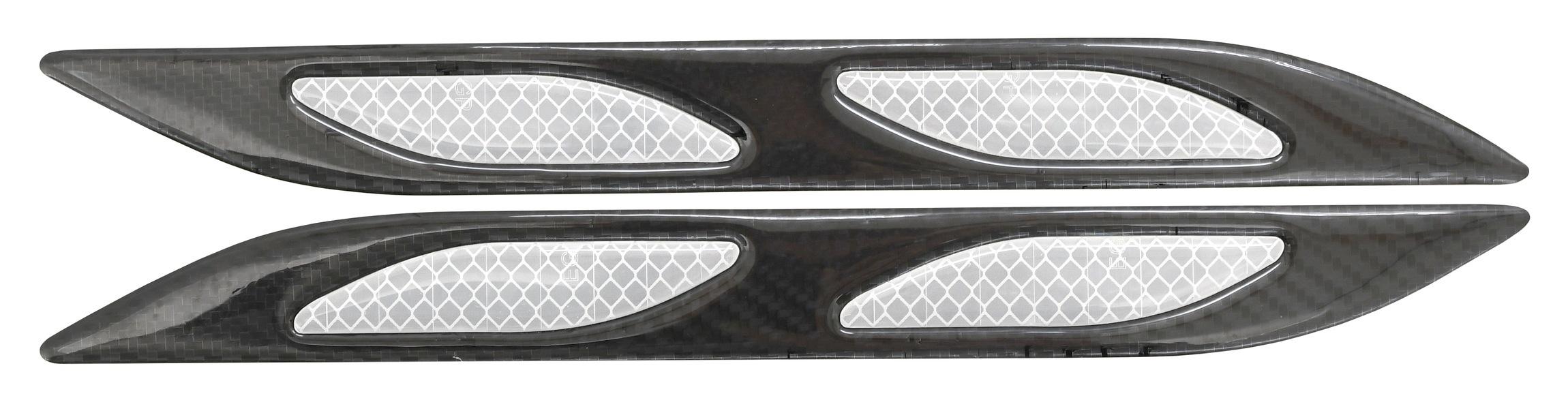 Chránič dveří samolepící DAGGER stříbrný 2ks
