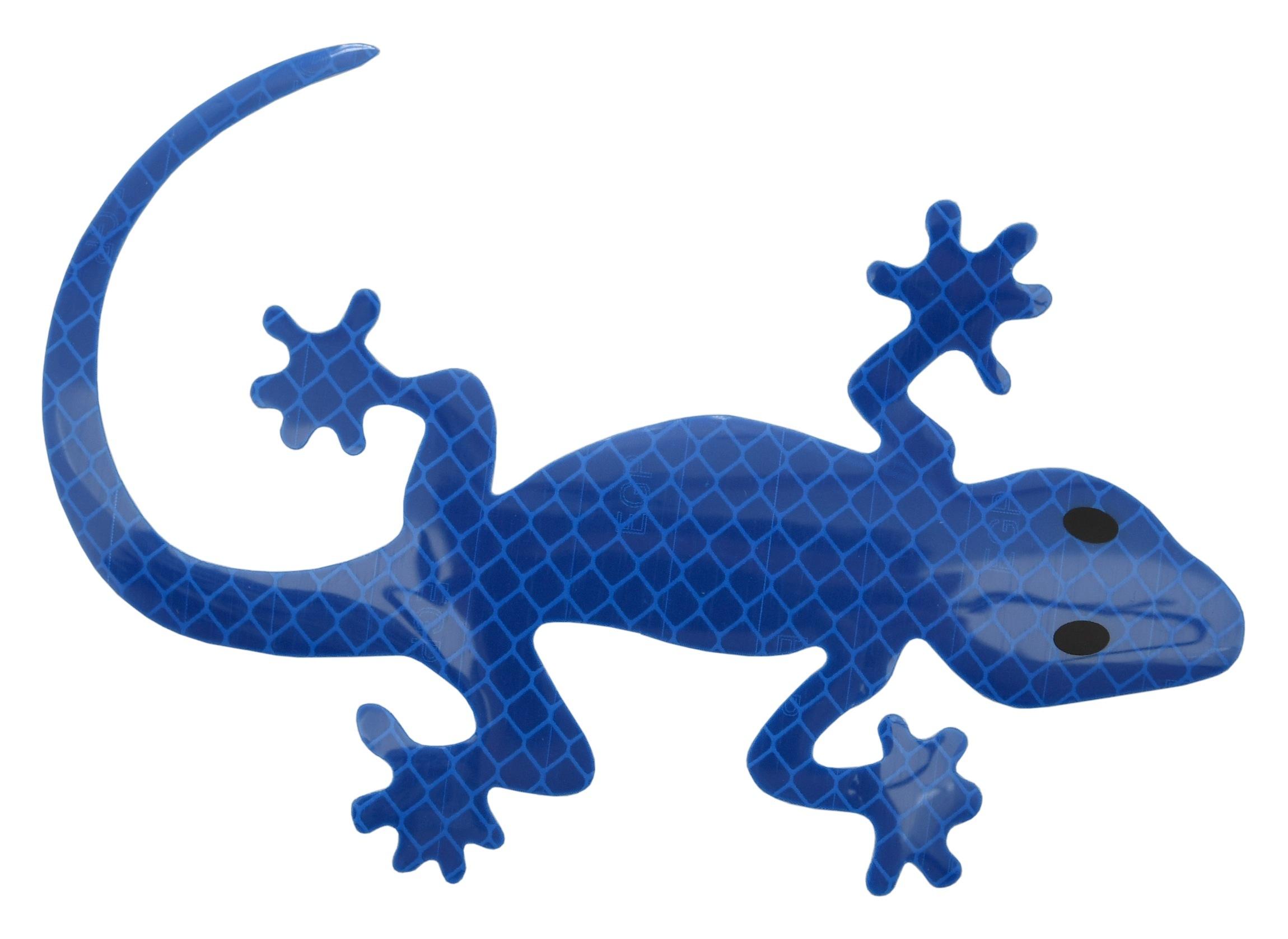 Dekor samolepící GECKO modrý