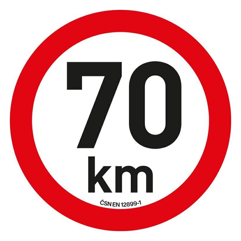 Samolepka omezení rychlosti  70km/h reflexní (200 mm)