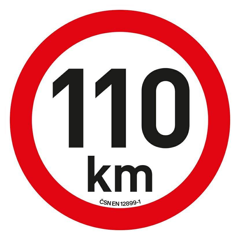 Samolepka omezení rychlosti  110km/h reflexní (200 mm)
