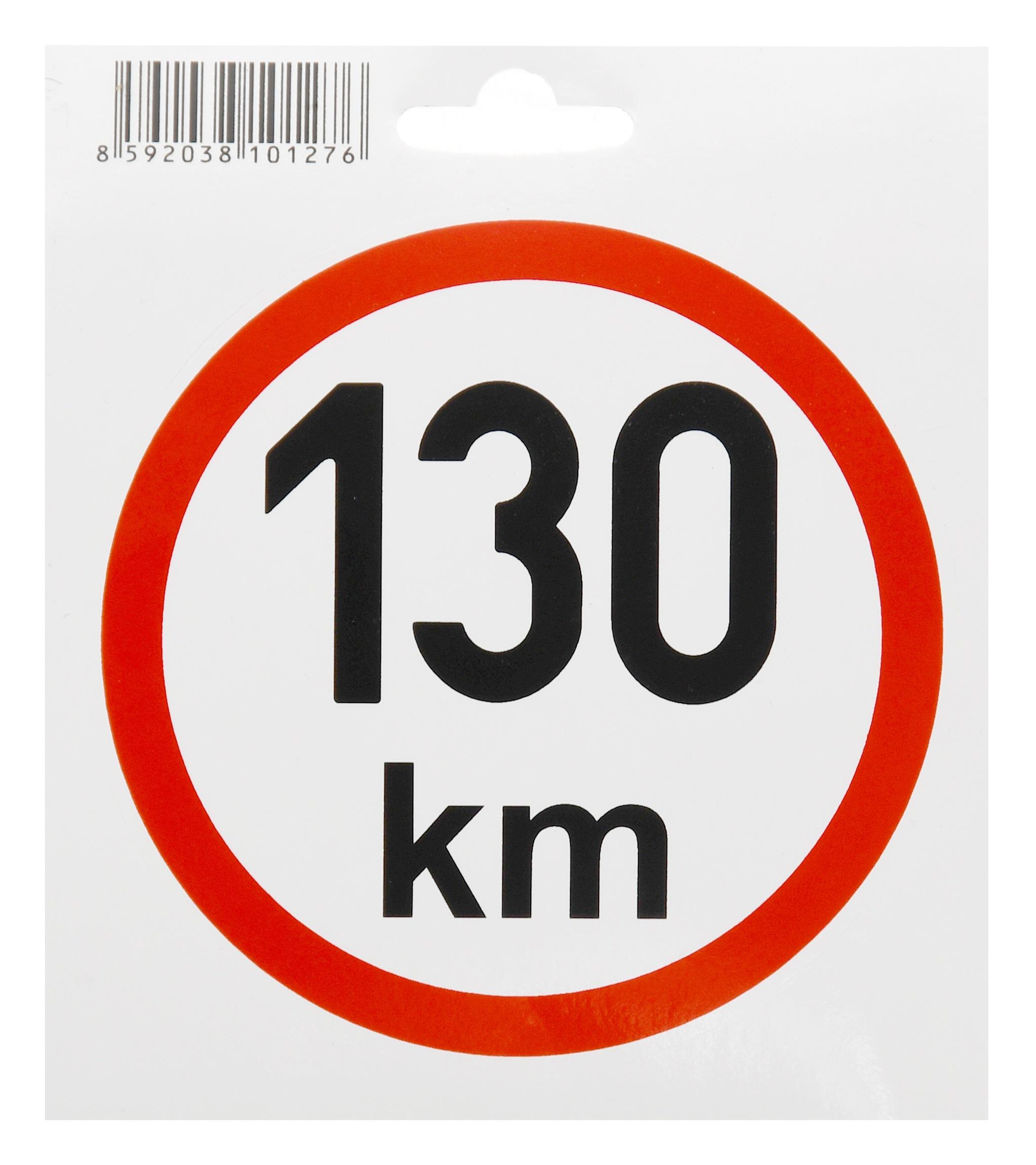 Samolepka omezená rychlost 130km/h (110 mm)