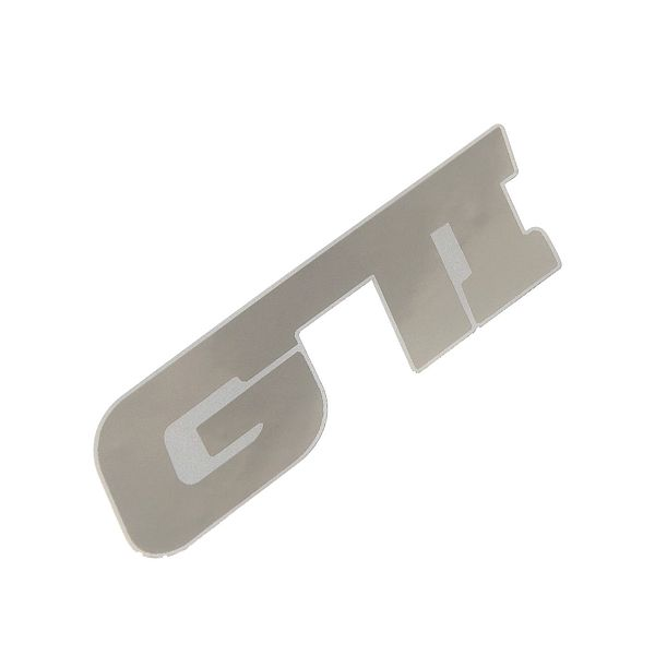 Znak GTI samolepící METAL velký
