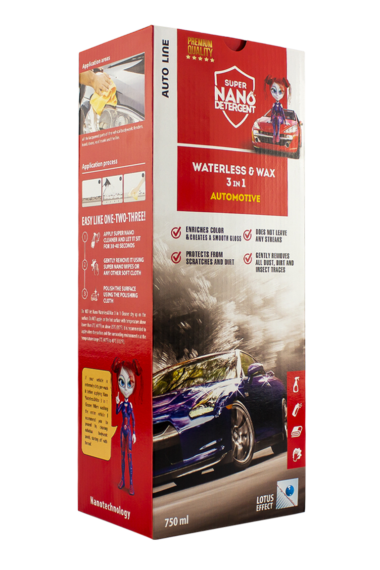 NANO GNP Waterless & Wax 3v1 Automotive sada