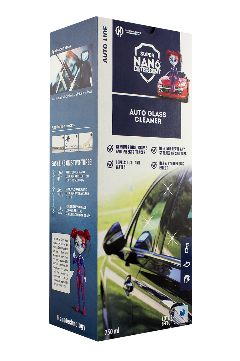 NANO GNP Glass & Mirrors Cleaner Automotive sada