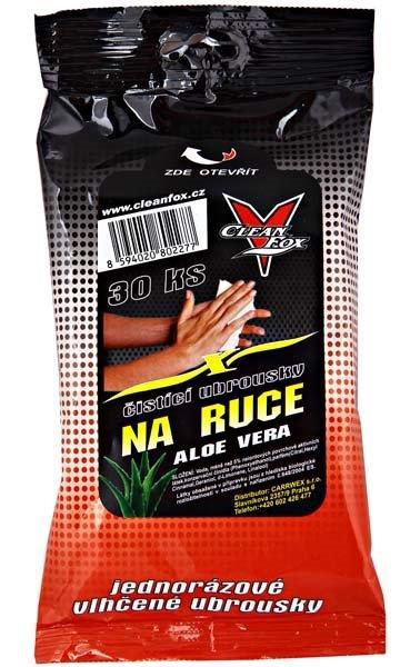 Ubrousky na ruce 30 ks (Aloe vera)