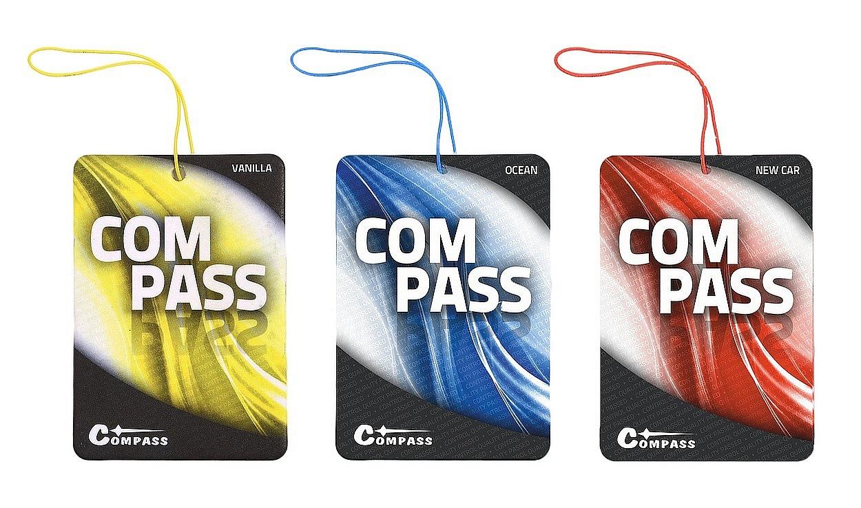 Osvěžovač vzduchu COMPASS-PROMO ( ocean, vanilla, new car)