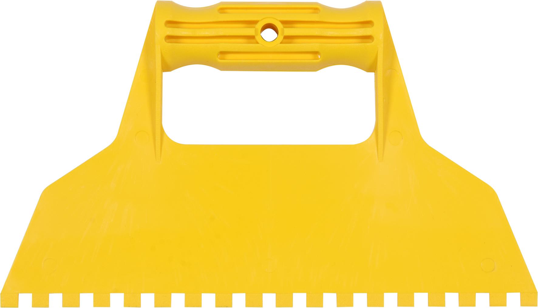 Špachtle 225 mm malířská plastová se zuby 6x6 mm