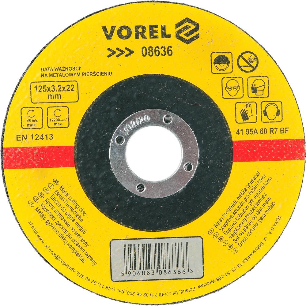 Kotouč na kov řezací 125 x 3,2 x 22 mm Vorel