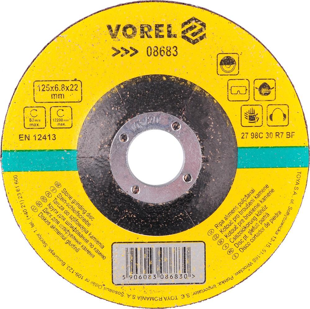 Kotouč na kámen brusný 125 x 6,8 x 22 mm Vorel