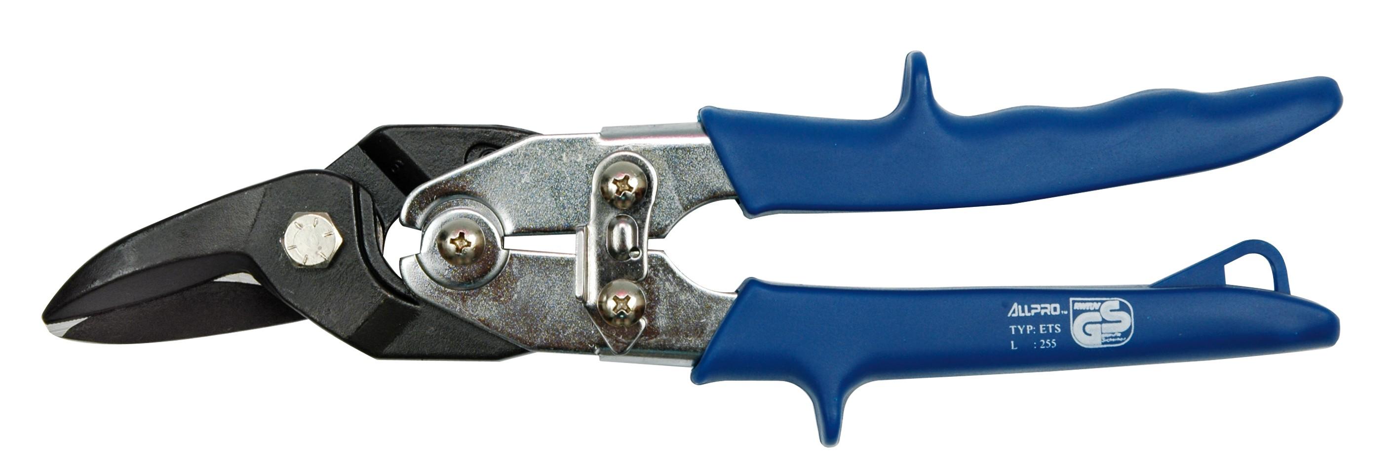 Nůžky na plech 255 mm pravé CrMo