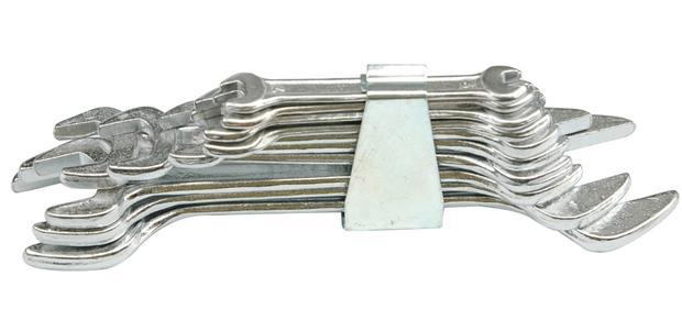 Sada klíčů plochých 8 ks 6 - 22 mm spona