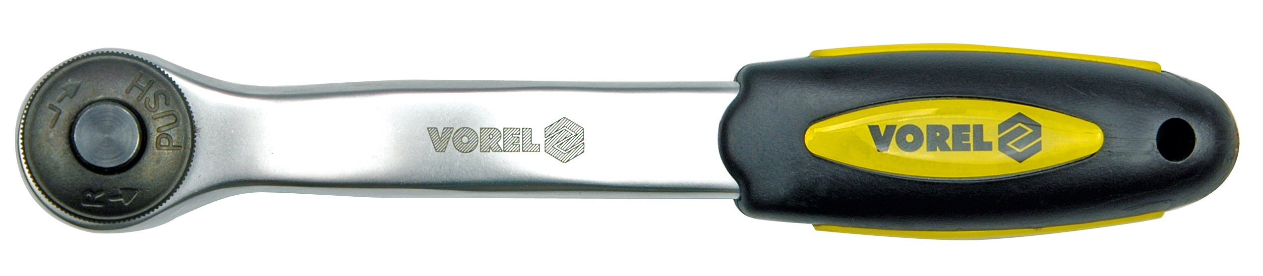 """Ráčna 3/8"""" 200 mm vyhnutá CrV 72 zubů"""
