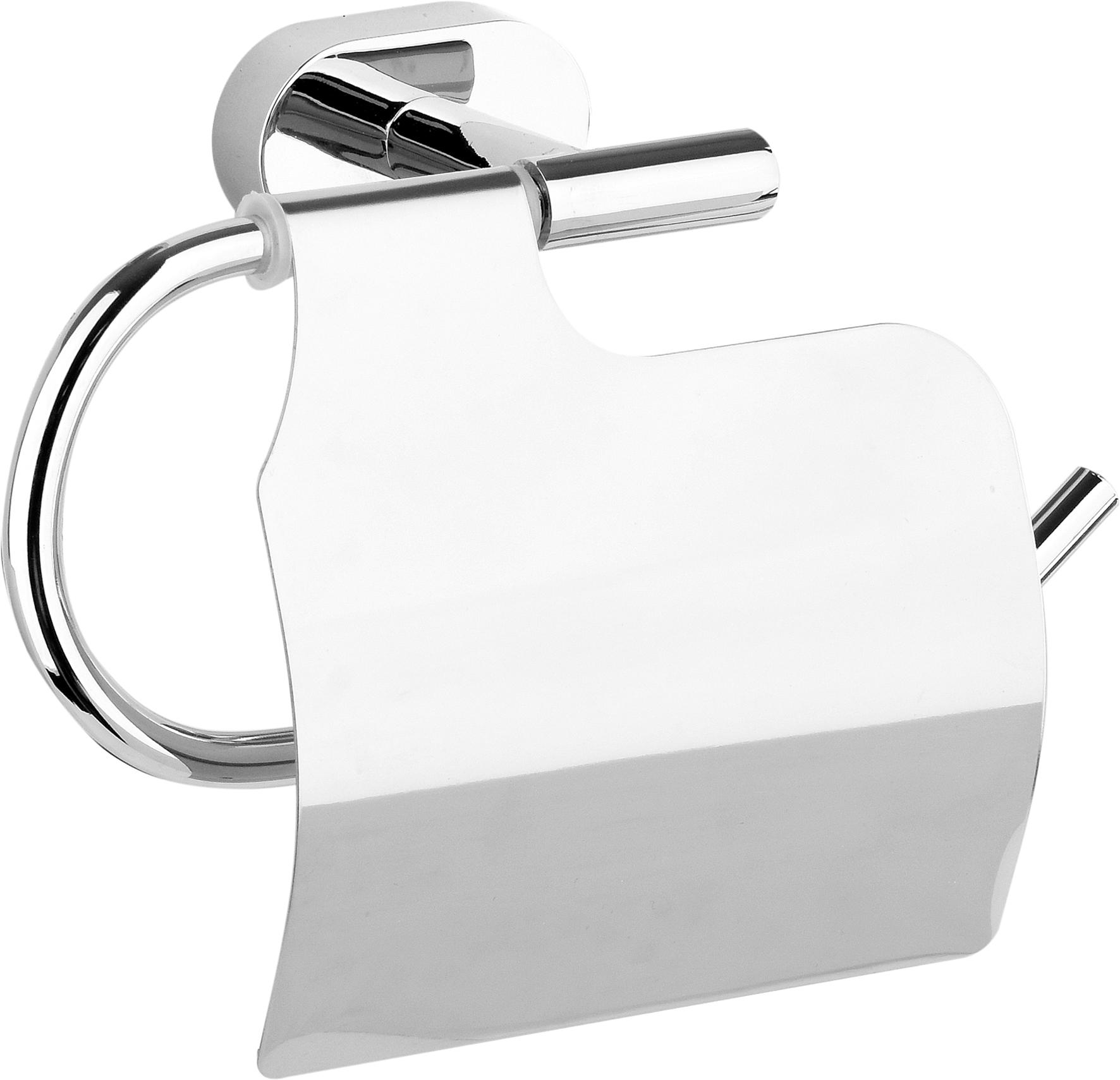 Držák toaletního papíru s krytem Oval Chrom