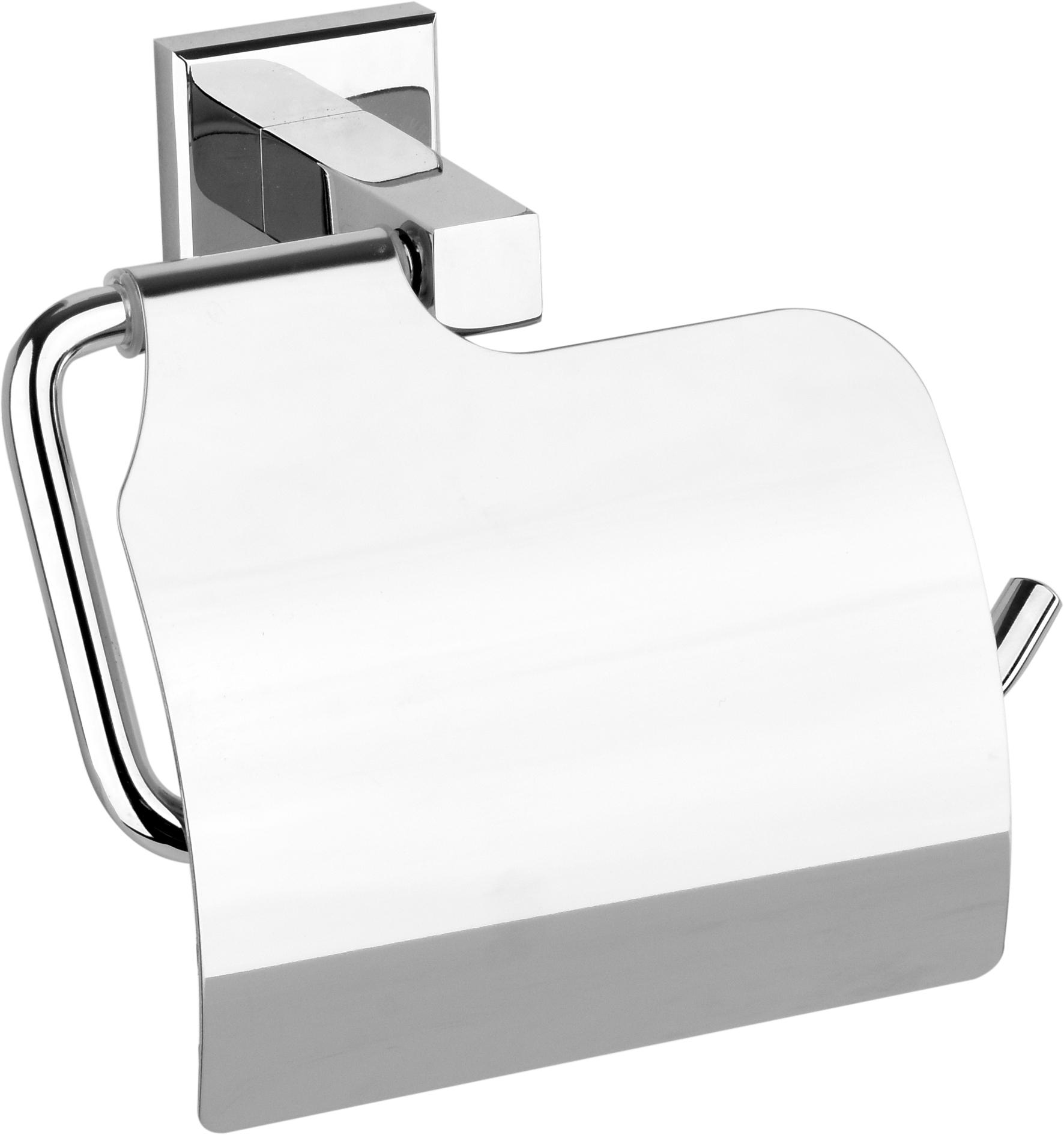 Držák toaletního papíru s krytem Quad Chrom