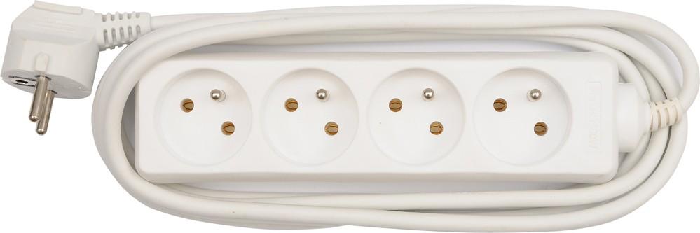 Kabel prodlužovací 5 m 4 zásuvky typ E