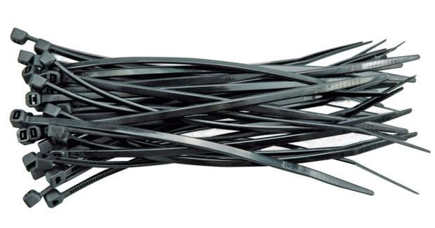 Páska stahovací 300 x 3,6 mm 100 ks černá