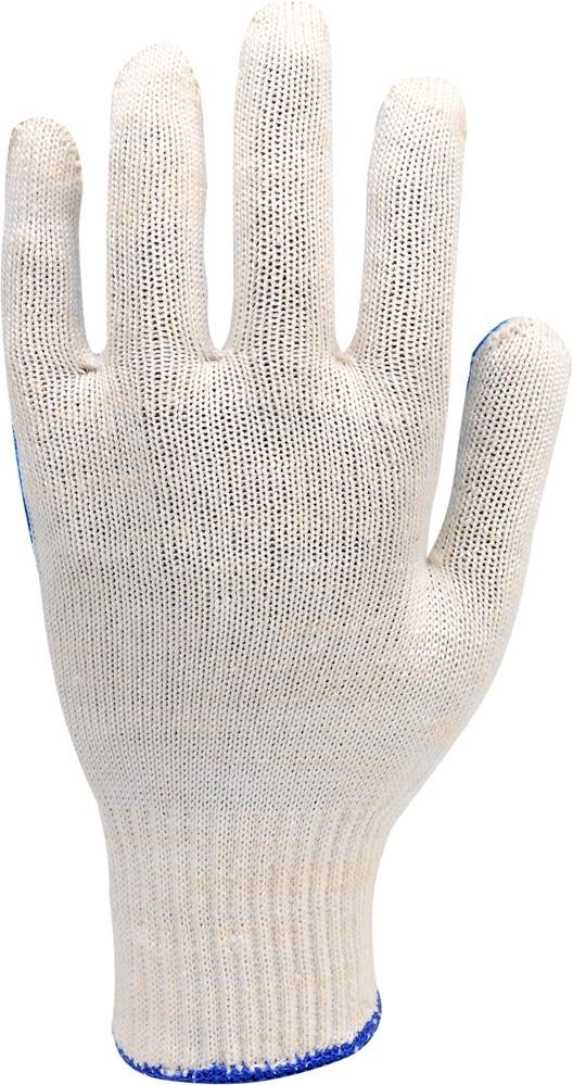 Rukavice pracovní bavlněné modro-bílé vel. 8