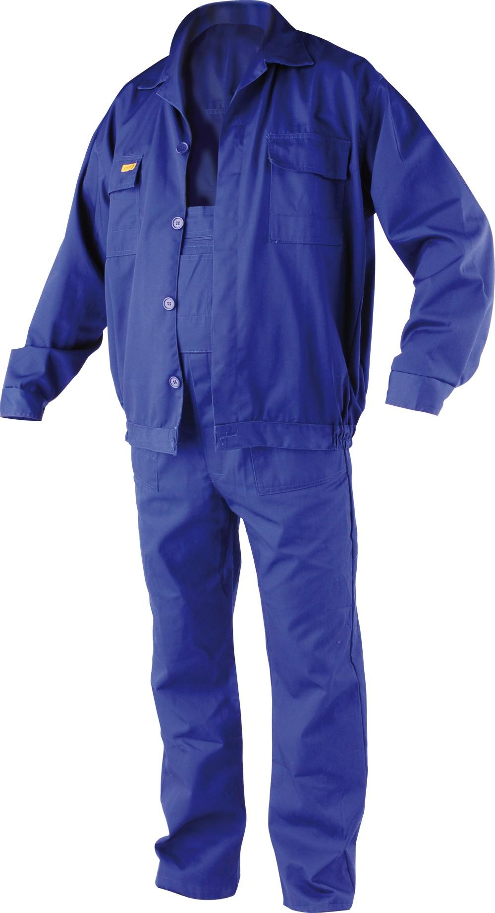 Pracovní oděv, kalhoty s laclem, blůza ERBO vel. M