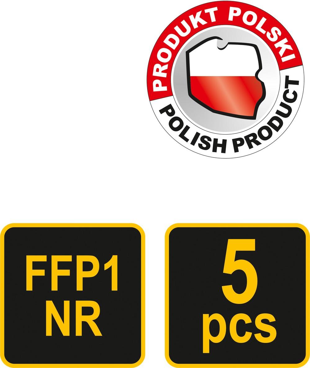 Respirátor s ventilem CDC3V 5ks FFP1